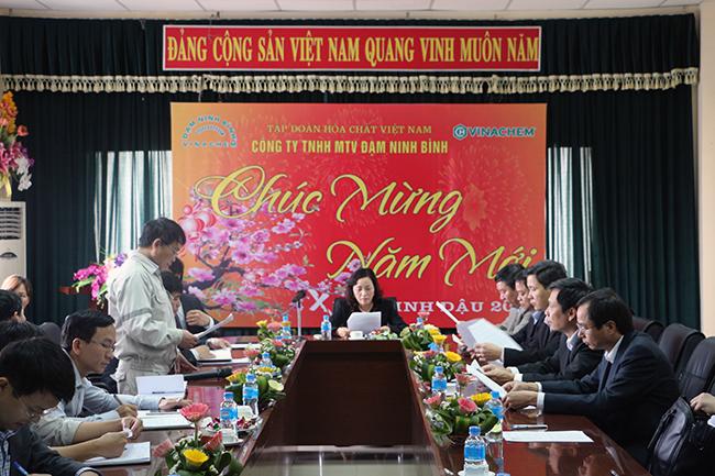 Bí thư Tỉnh ủy tỉnh Ninh Bình kiểm tra tình hình sản xuất tại Công ty TNHH MTV Đạm Ninh Bình