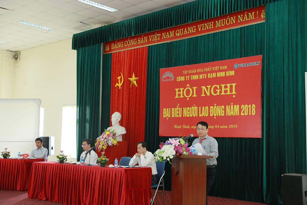 Công ty TNHH MTV Đạm Ninh Bình tổ chức thành công Hội nghị Đại biểu Người lao động năm 2018